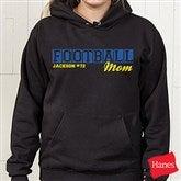 Sports Mom Personalized Black Hooded Sweatshirt - 15469-BHS