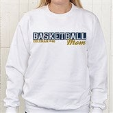 Sports Mom Personalized White Sweatshirt - 15469-WS