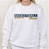 Sports Mom Personalized White Sweatshirt - 15469-WS