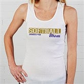 Sports Mom Personalized White Tank - 15469-WT