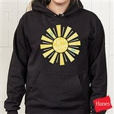 You Are My Sunshine Black Hooded Sweatshirt - 15470-BHS