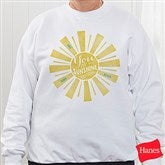 You Are My Sunshine Personalized White Sweatshirt - 15470-WS