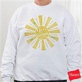 You Are My Sunshine Personalized White Sweatshirt - 15470-WS