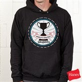 Grandpa's Fan Favorite Personalized Black Hooded Sweatshirt - 15471-BHS