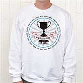 Grandpa's Fan Favorite Personalized White Sweatshirt - 15471-WS