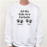 Love For Pets Personalized White Sweatshirt - 15472-WS
