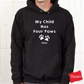Love For Pets Personalized Black Hooded Sweatshirt - 15472-BHS
