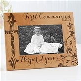 First Communion Personalized Picture Frame- 4 x 6 - 15547-S