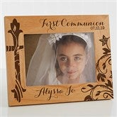 First Communion Personalized Picture Frame- 5 x 7 - 15547-M