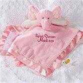 Personalized Elephant Baby Blankie - Pink - 15549-P