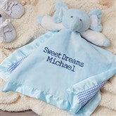 Personalized Elephant Baby Blankie - Blue - 15549-B