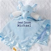 Personalized Elephant Baby Blankie - Blue - 15549-B