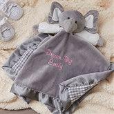 Personalized Elephant Baby Blankie - Grey - 15549-G