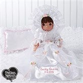 Precious Moments Personalized Christening Doll-Brunette - 15552-BR