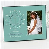 God Bless First Communion Personalized Picture Frame - 15554