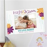 Hugs & Kisses Personalized Photo Magnet Frame - 15559