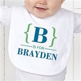 Name Bracket Personalized Bib - 15561-B