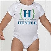 Name Bracket Personalized Baby Bodysuit - 15561-CBB