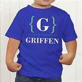 Name Bracket Personalized Toddler T-Shirt - 15561-TT
