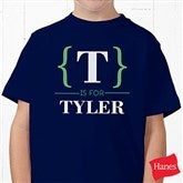 Name Bracket Personalized Hanes® Youth T-Shirt - 15561-YCT