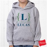 Name Bracket Personalized Youth Hooded Sweatshirt - 15561-YHS