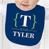 Name Bracket Personalized Baby Bib - 15561-B