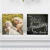 You Are...Personalized Photo Square Blocks- Set of 2 - 15567