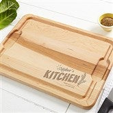 Her Kitchen Personalized Maple Cutting Board- 12x17 - 15569