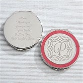 Enchanting Mother Engraved Pink Compact Mirror - 15579