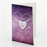 We Love You To Pieces Personalized Greeting Card - 15582