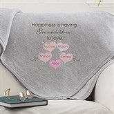 What Is Happiness? Personalized Sweatshirt Blanket - 15584