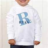Alphabet Fun Personalized Toddler Hooded Sweatshirt - 15592-CTHS