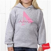 Alphabet Fun Personalized Youth Hooded Sweatshirt - 15592-YHS