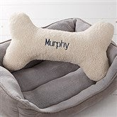 Personalized Dog Bone Pet Pillow- Large - 15594-L