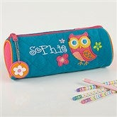 Lovable Owl Embroidered Pencil Case by Stephen Joseph - 15605