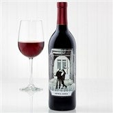 Our Wedding Personalized Photo Wine Bottle Labels - 15611-T