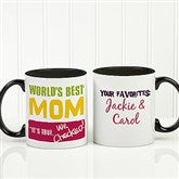 Thanks Mom, I Turned Out Awesome! Personalized Coffee Mug 11oz.- Black - 15624-B