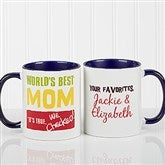 Thanks Mom, I Turned Out Awesome! Personalized Coffee Mug 11oz.- Blue - 15624-BL