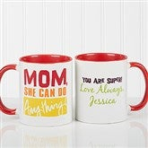 Thanks Mom, I Turned Out Awesome! Personalized Coffee Mug 11oz.- Red - 15624-R