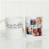 They're Worth Spoiling Personalized Photo Coffee Mug 11oz.- White - 15625-S