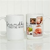 They're Worth Spoiling Personalized Photo Coffee Mug 15oz.- White - 15625-L