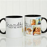 They're Worth Spoiling Personalized Photo Coffee Mug 11oz.- Black - 15625-B