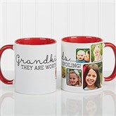 They're Worth Spoiling Personalized Photo Coffee Mug 11oz.- Red - 15625-R