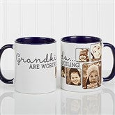 They're Worth Spoiling Personalized Photo Coffee Mug 11oz.- Blue - 15625-BL