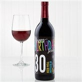 Bold Birthday Personalized Wine Bottle Labels - 15642-T