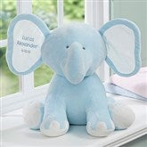 Embroidered Jumbo Plush Elephant - Blue - 15643-B