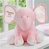 Embroidered Jumbo Plush Elephant - Pink - 15643-P