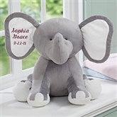 Embroidered Jumbo Plush Elephant - Grey - 15643-G