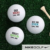 Best. Dad. Ever. Personalized Golf Ball Set - Nike Mojo® - 15646-NM