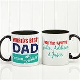 Thanks Dad, I Turned Out Awesome Personalized Coffee Mug 11oz.- Black - 15653-B
